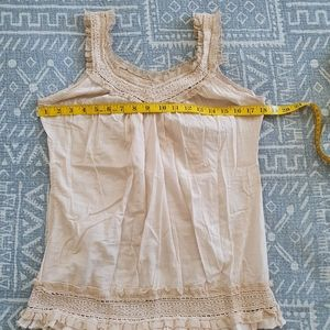 PASSPORT Crocheted Cotton Tank